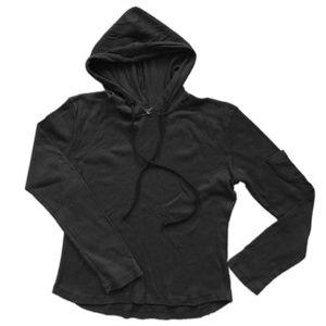MARIKA lightweight black LS hoodie